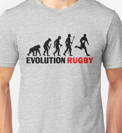 Evolution Of Man and Rugby Funny T Shirt Unisex T-Shirt