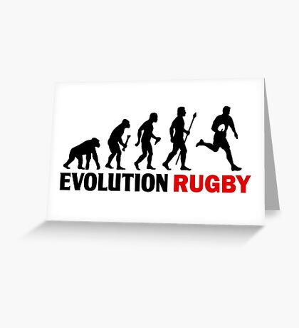 Evolution Of Man and Rugby Funny T Shirt Greeting Card