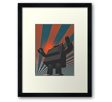 Retro Style Robot 4 Framed Print