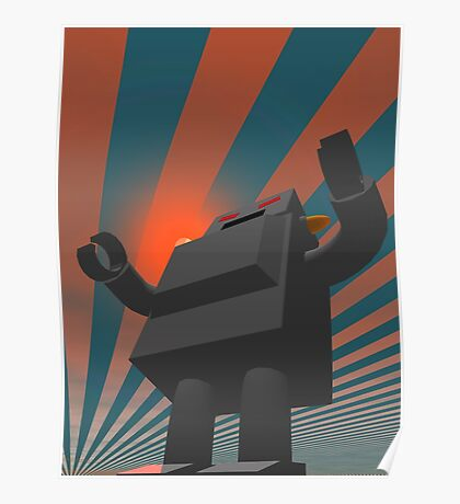 Retro Style Robot 4 Poster