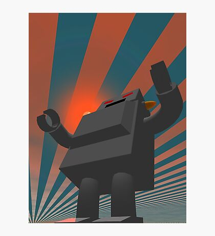 Retro Style Robot 4 Photographic Print