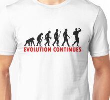 Funnny Bodybuilding Evolution Of Man Pose Silhouette Unisex T-Shirt