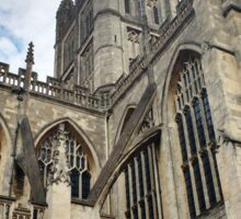 Towers of Bath Abbey in England Sticker
