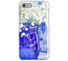 Cobalt Blue Mason Jar iPhone Case/Skin