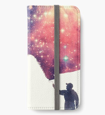 Painting the universe (Colorful Negative Space Art) iPhone Wallet/Case/Skin