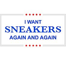 I Want Sneakers Again and Again Photographic Print
