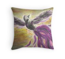 DarckRaven Mystic Raven Bird Throw Pillow