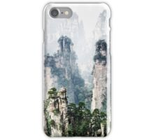 Floating mountains Zhangjiajie National Forest Park art photo print iPhone Case/Skin