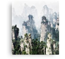 Floating mountains Zhangjiajie National Forest Park art photo print Metal Print