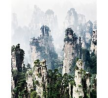 Floating mountains Zhangjiajie National Forest Park art photo print Photographic Print