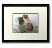 Now, how do you switch on this screen? Framed Print
