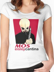 MOS EISLEY CANTINA FAST FOOD T-SHIRT #1 Women's Fitted Scoop T-Shirt
