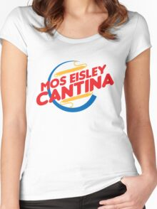 MOS EISLEY CANTINA FAST FOOD T-SHIRT #2 Women's Fitted Scoop T-Shirt