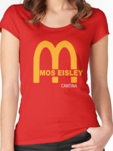 MOS EISLEY CANTINA FAST FOOD T-SHIRT #3 Women's Fitted Scoop T-Shirt