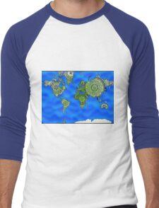 World Map Mandalas Men's Baseball ¾ T-Shirt