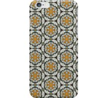 Yellow floral flowers scroll spiral abstract pattern iPhone Case/Skin