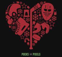 Hockey Heart (Red) by pucksandpixels