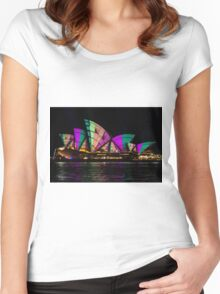 Sydney Vivid 21 Patterns 5 Women's Fitted Scoop T-Shirt