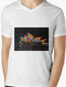 Sydney Vivid 22 Flowers Mens V-Neck T-Shirt
