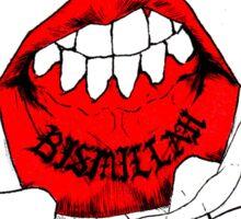 Bismillips. Sticker