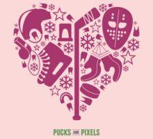 Hockey Heart (Pink) by pucksandpixels