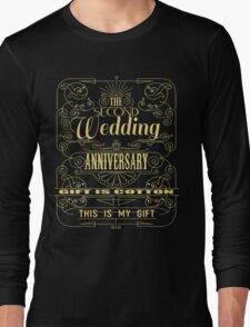 The Second Wedding Anniversary Gift Is Cotton For Him & Her Long Sleeve T-Shirt