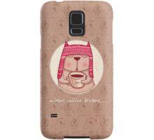 winter, coffee, dreams Samsung Galaxy Case/Skin