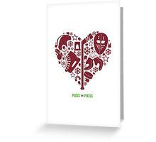Hockey Heart (Maroon) Greeting Card