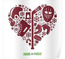 Hockey Heart (Maroon) Poster