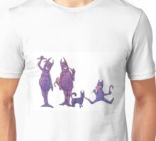 Family of Furry Purple Cyclopes Unisex T-Shirt