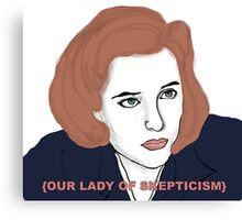 Our Lady of Skepticism  Canvas Print