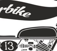 vintage motobike Sticker