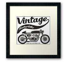 vintage motobike Framed Print