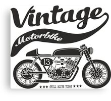 vintage motobike Canvas Print