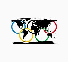 Olympic Ring and World Map Unisex T-Shirt