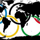 Olympic Ring and World Map by ethanwittenberg