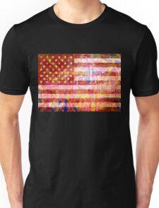 Art Grunge American Flag Unisex T-Shirt