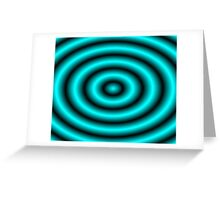 Aqua 3D Hoops Greeting Card