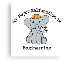 Engineering Major Canvas Print