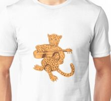 Jaguar Playing Guitar Drawing Unisex T-Shirt