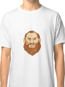 Man Bearded Face Retro Classic T-Shirt