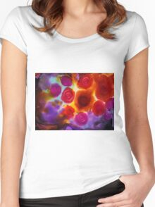 Abstract Roses Art Women's Fitted Scoop T-Shirt
