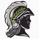 Minerva Head Profile Silhouette Retro by patrimonio