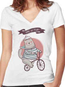 summer. bike. freedom Women's Fitted V-Neck T-Shirt
