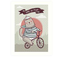summer. bike. freedom Art Print