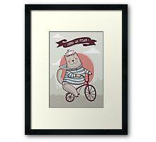 summer. bike. freedom Framed Print