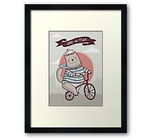 summer. bike. freedom Framed Print