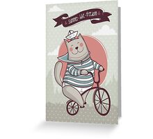 summer. bike. freedom Greeting Card