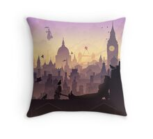 Wind's in the East Throw Pillow