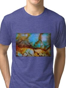 Abstract turquoise gemstone Tri-blend T-Shirt